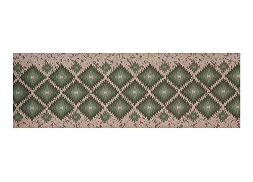 BIANCHERIAWEB Tappeto Passatoia in Tessuto Jacquard Linea Emozioni Disegno Oasi Verde 57x230 Verde