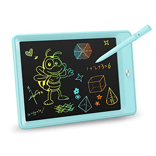 KOKODI LCD Writing Tablet, 10 Inch Colorful Toddler Doodle Board Drawing Tablet, Erasable Reusable Electronic Drawing Pads, Educational and Learning Toy for 3-6 Years Old Boy and Girls (Blue)