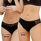 Solufox Culotte Menstruelle Lavable Flux Abondant =3 tampons + Sac Lavage, Culotte...