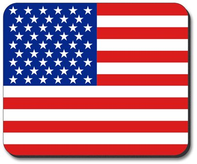American Flag Mouse Pad - by Art Plates
