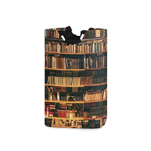 COFEIYISI Cesto para la Colada,Biblioteca Estantería con Libros Estantería Bookworm,Plegable Cestas Bolsas Almacenamiento para Colada Cestos para Juguete Ropa Sucia