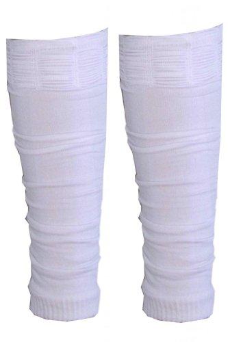 Coppia di scaldamuscoli fluorescenti da ragazza, dai 4ai 12 anni White Taglia unica