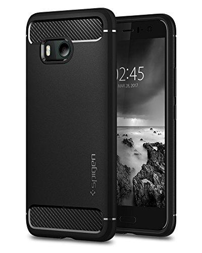 【Spigen】 HTC U11 ケース TPU 米軍MIL規格取得 耐衝撃 ラギッド・アーマー H11CS21938 (ブラック)