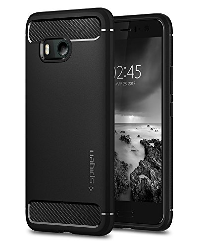 Spigen Rugged Armor Designed for HTC U11 Case (2017) - Black