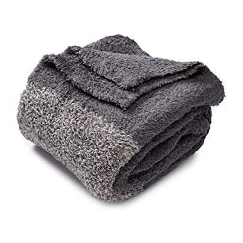Barefoot DreamsBarefoot Dreams CozyChic Blanket Throw - Graphite Grey / Charcoal - 45 x 60 inch