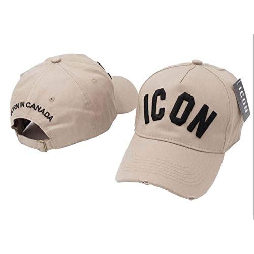 AIMICONG Cap Stickereibuchstaben Icon Baseballmützen Hysteresensport-Hip Hop-Kappe Für Männer Frauen-A