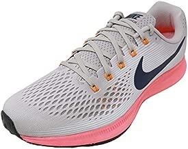 Nike Mens Air Zoom Pegasus 34 Fitness Athletic Running Shoes Gray 9.5 Medium (D)