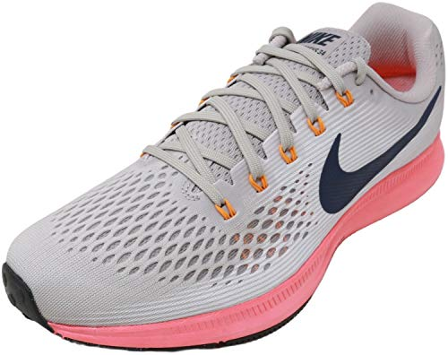 Nike Men's Air Zoom Pegasus 34 Running Shoe, 9, Moon Particle/Blackened Blue