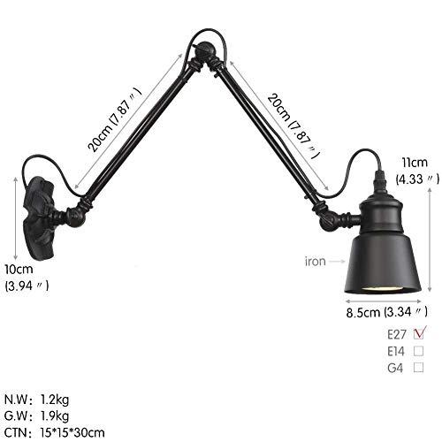 Wandlantaarn, wandlamp van kristalglas, wandlamp spiegel voor wc-tafel, verlichting zwart, voor zwanenhals 1 exemplaar