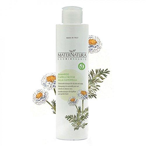 Maternatura Shampoo per Cute e Capelli Secchi Aloe Vera e Camomilla - Ideale per Lavaggi Frequenti e Cuti Sensibili - Vegan, Nichel Testato - 250 ml