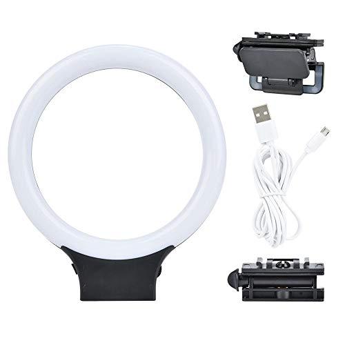 XJ-31S 72 Luz de anillo LED Luz de relleno de video USB con abrazadera de cabeza esférica Batería incorporada