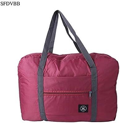 Fashion Women Luggage Bag Big Capacity Folding Carry-on Duffle Foldable Nylon Zipper Waterproof Travel