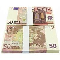 Feketeuki 5 10 20 50100200500 EUR Billetes de Oro en Papel Moneda Falso de Oro de 24K para Colecciones Conjuntos de Billetes en Euros - Colorido