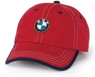 Amazon Com Bmw Genuine Logo Kids Chino Cap Hat Red Navy Blue Automotive