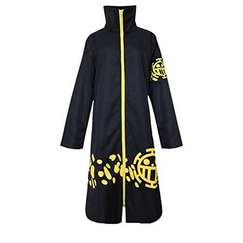 THWJSH - Disfraz de anime Trafalgar para cosplay, disfraz de Halloween, vestido de moda masculina para jugar el rol, los mejores regalos para los fanticos, color negro
