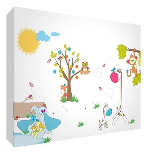 Little Helper KITR128-06IT Decorazioni da parete colorate per cameretta Bambino, motivo: Animali, Multicolore (Grande)