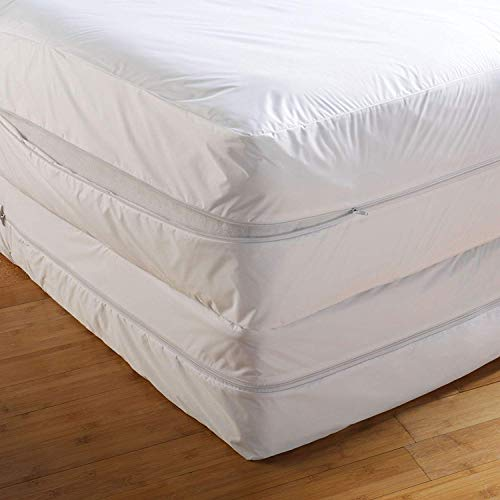 Mattress Protectors Double Bed Bug Proof Cover Zippered Lab Certified Encasement|Absorbent|Anti Allergy|Anti Dust Mite|Anti Bacterial|6 Months Warranty|Non Noisy|Ease Asthma|Itchy Feelings|Allergens|Pet Dander All UK Sizes