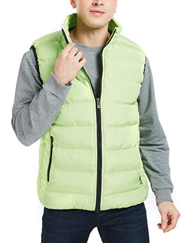 APRAW Men's Down Vest Winter Casual Work Sports Travel Outdoor Padded Puffer Pockets