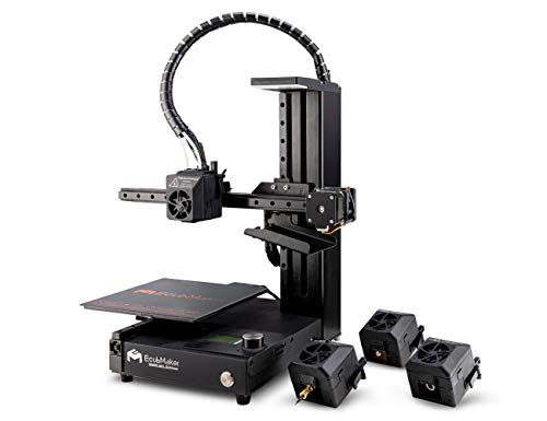 EcubMaker TOYDIY 4-in-1 3D Printer(3D Dual Color Printing/Laser Engraving/CNC Carving) Easy to Use Entry-Level 180x180x180mm Auto Leveling (3D Printing+ Laser+ CNC)