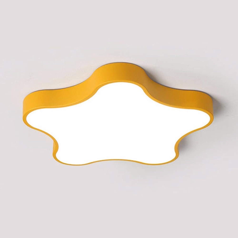 ZPSPZ deckenleuchte led - deckenleuchte schlafzimmer lampe acryl kinder lampe super dünn,gelb,42cm