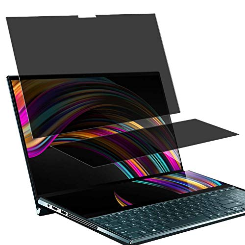 """Vaxson TPU Pellicola Privacy, compatibile con ASUS ZenBook Pro Duo UX581LV 15.6"""", Screen Protector Film Filtro Privacy [ Non Vetro Temperato ]"""