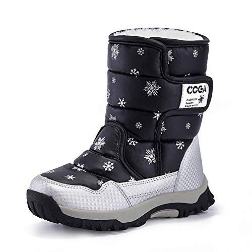Schneestiefel Für Kinder Mädchen Warm Gefüttert Boots Winterschuhe rutschfeste Wasserdicht Winter Stiefel …