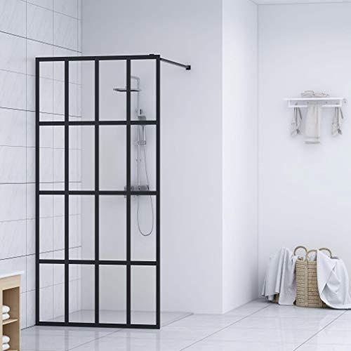 UnfadeMemory Duschwand Duschabtrennung für Begehbare Dusche Sicherheitsglas und Aluminium-Rahmen Spritzfest Badezimmer Walk-In Dusche Duschtrennwand (118x190 cm, Transparent)