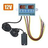 Tiamu 5-12V 50-110 Celsius Indicador de temperatura digital Termometro Detector de temperatura del refrigerador con la sonda Rojo