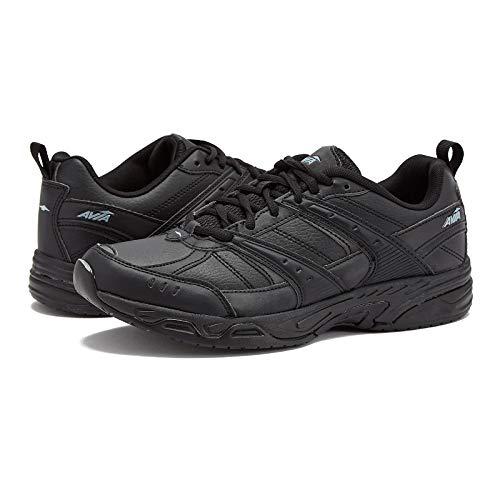 Avia Men's Avi-Union II Footwear Comfort Work Non Slip Shoes, Food Service Sneakers, Black/Castle Rock, 10 Wide US