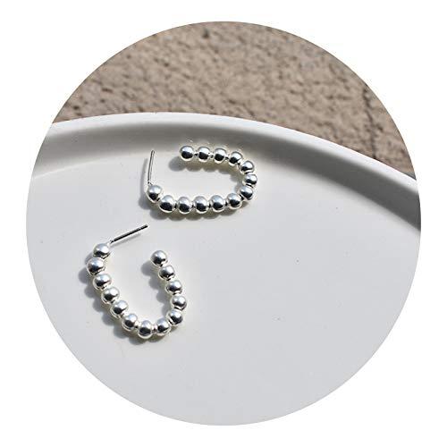 N&A Pendientes S925 Pendientes de Agujas de Plata Geométrico Rectangular Notx Diseño Pendientes Pendientes de Viento frío Pendientes Pendientes Pendientes Potentes Pendientes(Plata)