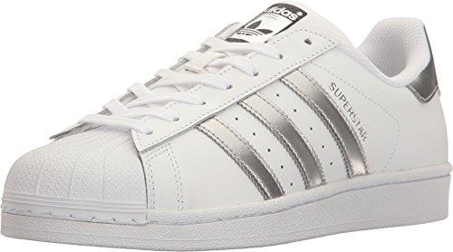 adidas Originals Superstar, Zapatillas Mujer, Blanco Plata Metálico Core Negro, 50 EU
