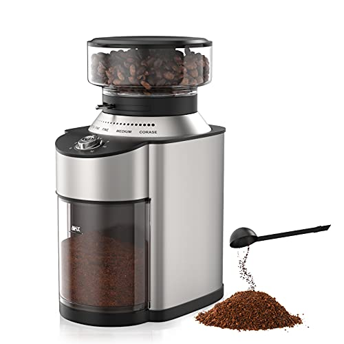 Electric Burr Coffee Grinder Coffee Bean Grinder with 19 Grind Settings Stainless Steel Blade Adjustable Burr Mill Coffee Grinder 2-12 Cup for Espresso Drip Coffee French Press Percolator Coffee