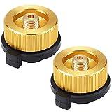 VGEBY 2pcs Conversión de Cartucho Gas Adaptador de Cabeza Válvula Estufa Portátil Conversión de Quemador Adaptador