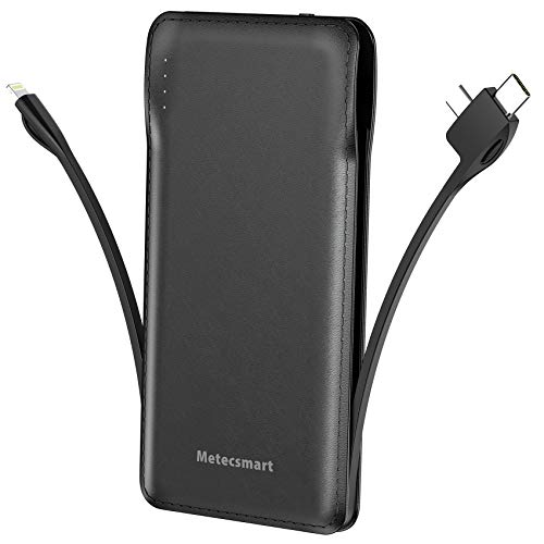 Extra Thin External Battery Pack Phone Battery Charger Portable Power Bank Mobile Charger Powerbank Compatible with Cell Phone iPhones Samsung iPad Metecsmart