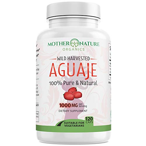 Aguaje Fruit Supplement - 120 Vegan Capsules - 1000mg Per Serving - Natural Butt and Bust Enhancement, Curve Enhancer, Hormone Balancer - Fresh Harvest from Peru
