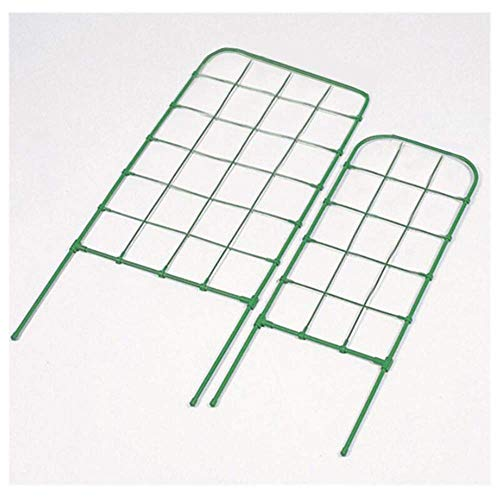 KISlink Garden Trellis for Climbing Plants Flowers Metal Green Rustproof Frame Trellis Flower Support Wrought Iron Cylindrical Flower Stand for Rose Tomato Pea Ivy Cucumbers,13x60cm