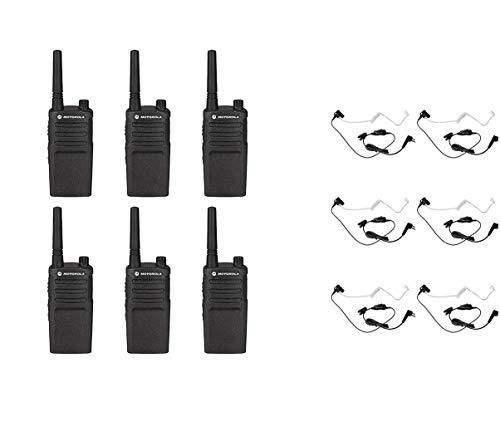 Purchase Motorola RMM2050 VHF 2 Watt 5 Channel MURS Radio with HKLN4601 Surveillance Headset (6 Pack...