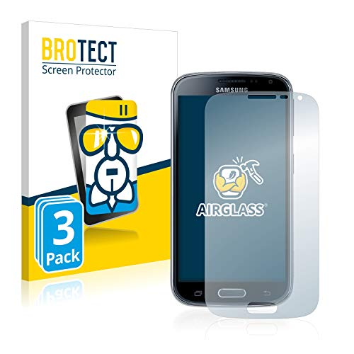 BROTECT Panzerglas Schutzfolie kompatibel mit Samsung Galaxy K Zoom SM-C115 (3 Stück) - AirGlass, 9H Festigkeit, Anti-Fingerprint, HD-Clear
