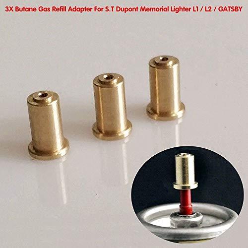 BAAQII 3 Stück Messing Gas Refill Adapter für S.T Dupont Memorial Leichter DIY Repair Kit