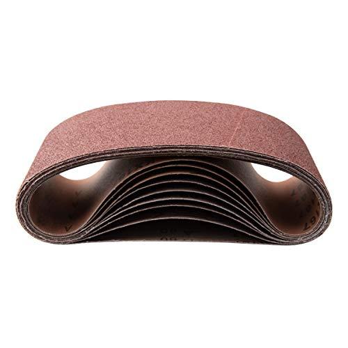 POWERTEC 110110 4 x 36 Inch Sanding Belts   120 Grit Aluminum Oxide Sanding Belt   Premium Sandpaper – 10 Pack