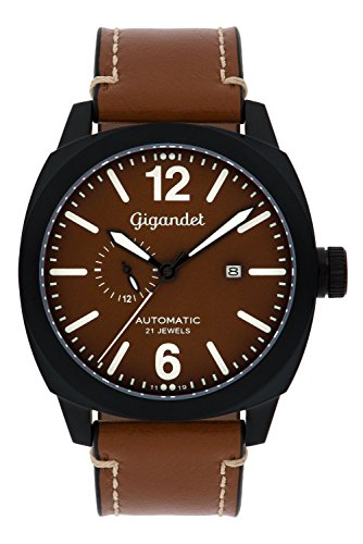 Gigandet Red Baron Herren-Armbanduhr Automatik Analog mit Lederarmband G16-001