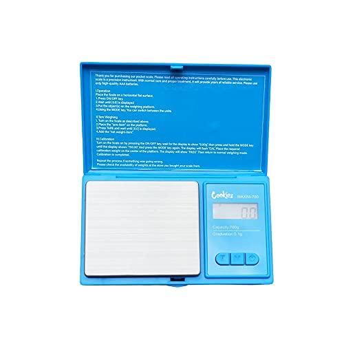 JUZIPI Mini balance de précision numérique LCD rétroéclairé 0,1/0,01-500 g/700 g pour bijoux de cuisine