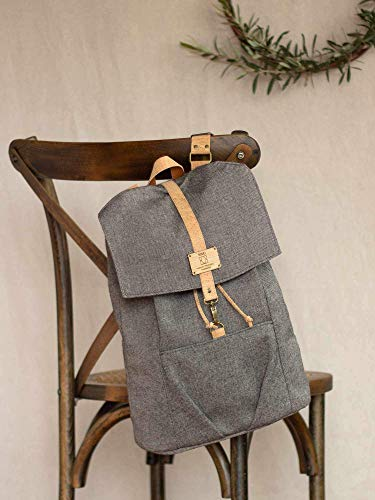 Grey Laptop Rucksack, notebook backpack for a casual businessman, informal Laptop Backpack for working days, Everyday 15' laptop knapsack