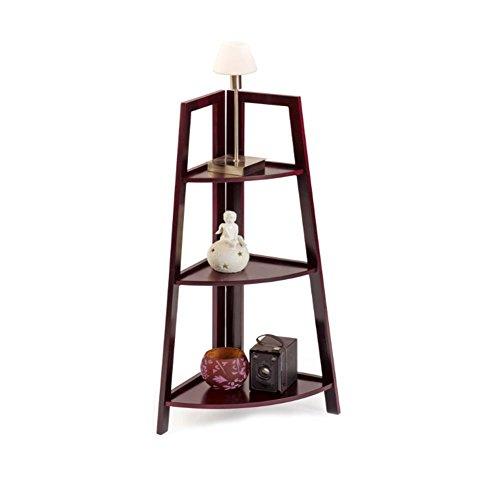 Maximex HC Handel 936102 - Estantería esquinera con 3 baldas de caoba - 80 cm de alto