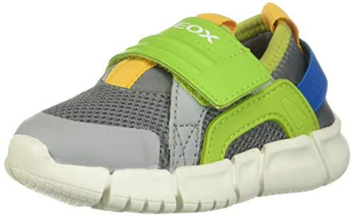 Geox B FLEXYPER Boy D, Zapatillas para Bebés, Gris (Grey/Lime Green C1172), 22 EU