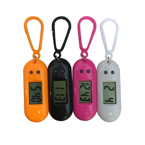 NICERIO 4Pcs Reloj de Bolsillo Reloj Electrónico Ligero Reloj Portátil con Clip Mini Reloj de Bolsillo Reloj Digital Reloj Llavero para Niños Niños Estudiantes