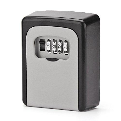 ONEVER Schlüsselsafe Key Lock Box Kombination an Der Wand Befestigter 4-Stelliger Schlüssel Safe-Box-Speicher für Gemeinsame Schlüssel und Sichere Schlüssel