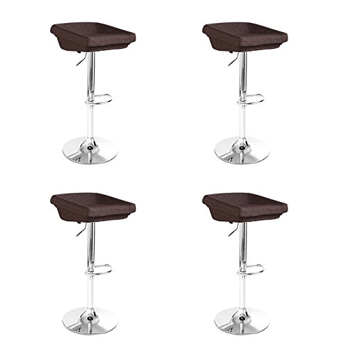 Lot de 4 tabourets de Bar Design Marrons - Udine