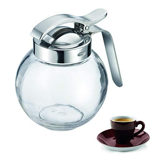 Westmark Sahnegießer/Honigspender, Fassungsvermögen: 250 ml, Kugelförmig, Glas/Rostfreier Edelstahl, Roma, Transparent/Silber, 65402260