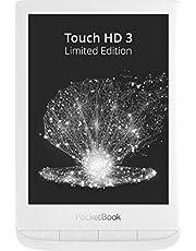 PocketBook E-boksläsare 'Touch HD 3' begränsad utgåva (16 GB minne; 15,24 cm (6 tum) E-Ink Carta display, SMARTlight; Wi-Fi; Bluetooth) skyddsfodral, presentförpackning och 1 års extra garanti, vit